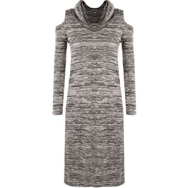 Faith Cowl Midi Dress ($16) ❤ liked on Polyvore featuring dresses, grey, long-sleeve maxi dresses, long sleeve party dresses, long-sleeve midi dresses, long sleeve midi dress and long sleeve dress