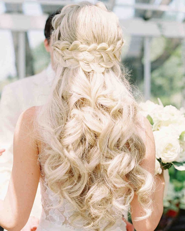 Wedding Hairstyles Braid: 44 Best Wedding Hairstyles Half Up Half Down Images On
