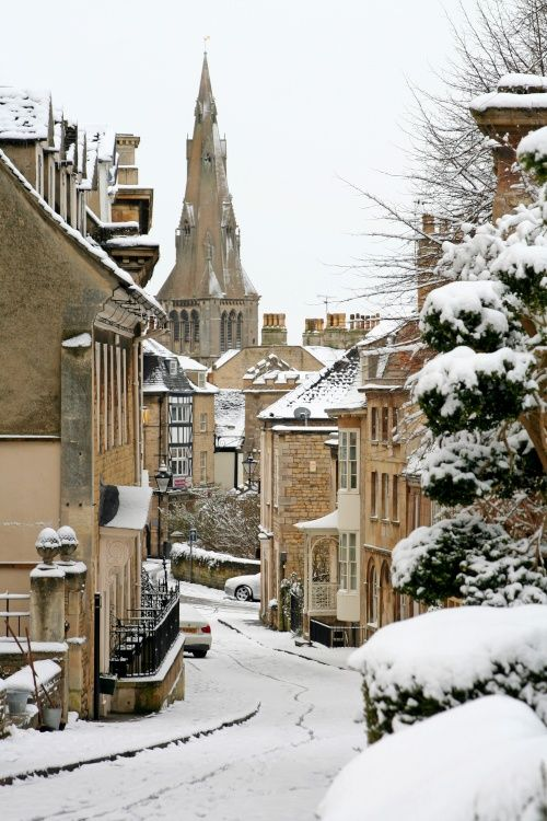 Winter in Stamford, Lincolnshire, UK. Nothing as peaceful as a walk in the snow.