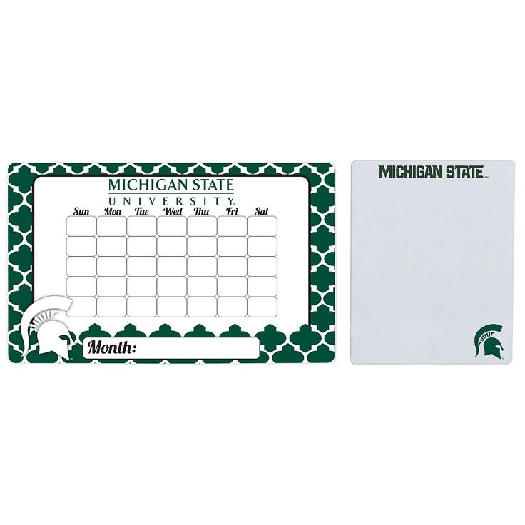 Michigan State Spartans Dry Erase Calendar & To-Do List Magnet Pad Set, Multicolor