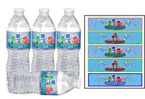 Pj Masks Printable water bottles Labels idea - Pj mascaras etiquetas para botellas de agua imprimibles