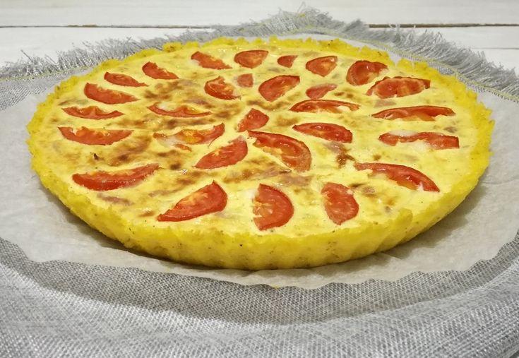 Quiche+di+polenta+con+taleggio,+cipolle+e+pomodori.