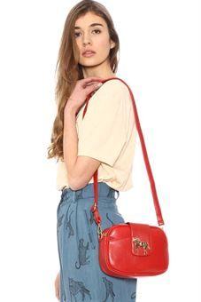 Bolso pequeño rojo con cierre en forma de caballo,MINIBAG HORSE RED, PEPA LOVES