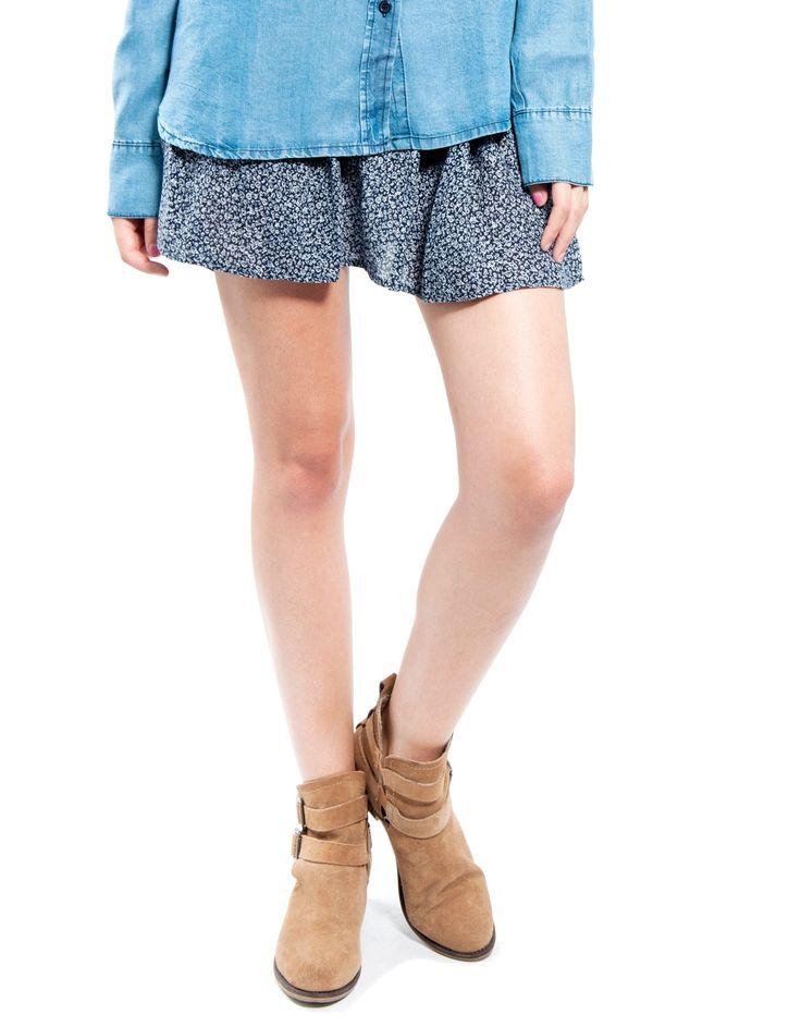Falda micro flor Double Agent 17,99€ www.doubleagent.es #fashion #ropa #trends