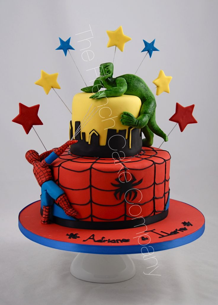 17 best superheroes cakes gteau super hros images on pinterest pice monte anniversaire thme super hros spiderman et le lzard cake design belgique pronofoot35fo Choice Image