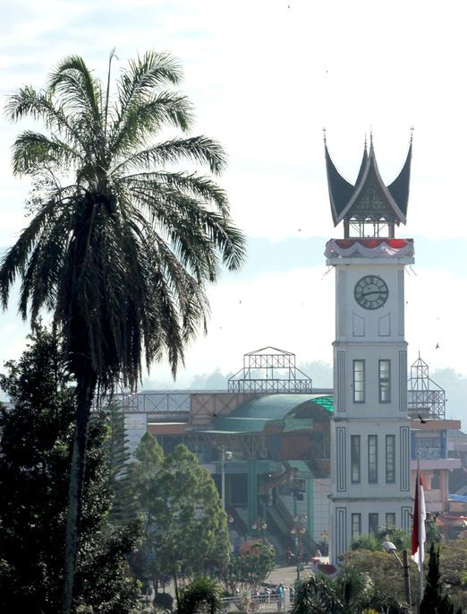 Jam gadang: The grand 26-meter high clock tower is the town's most illustrious monument, having been built back in 1926. (Photo by Raditya Margi)