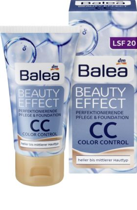 Balea Beauty Effect CC Cream 50ml Warna: Nature. Cocok untuk warna kulit terang hinggal warna kulit medium.