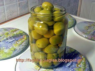 Τα φαγητά της γιαγιάς: Ελιές πράσινες αχάραχτες