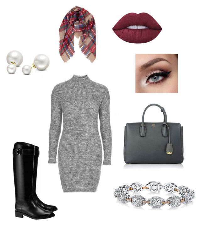 Winter look by ncita-willey on Polyvore featuring polyvore, fashion, style, Tory Burch, MCM, Harry Kotlar, Allurez, Humble Chic, Lime Crime, Topshop and clothing