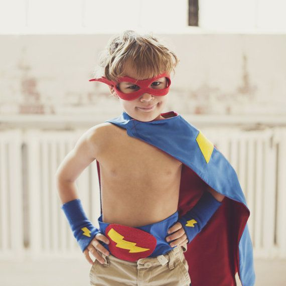 Super Hero Cape PLUS Accessory Set Choose from 10 sets - where were you 10 yrs ago...