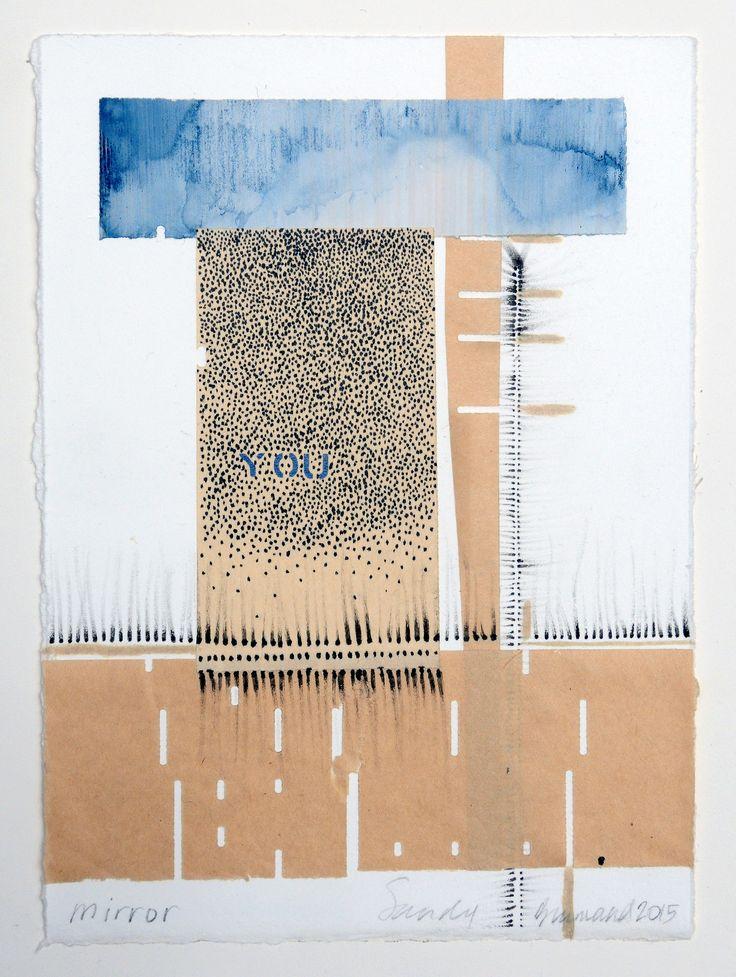 """Mirror"" Artista: Sandy Brunvand, técnica mixta, 21.5x28 cm, 2015 + PA"