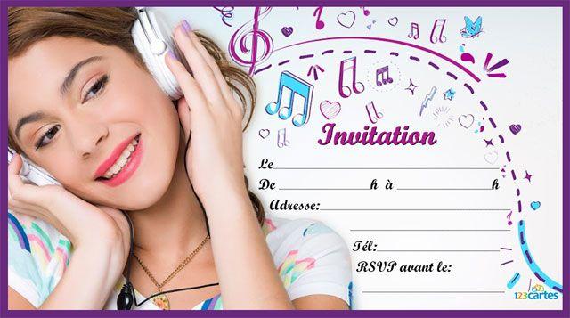 26 best dcoration anniversaire birthday decoration images on violetta portant un casque audio sur un fond de notes de musique stopboris Gallery