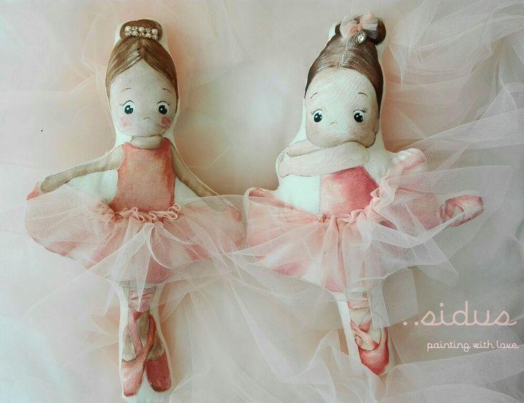 Cuscinidecorativi dipinti a mano ballerine