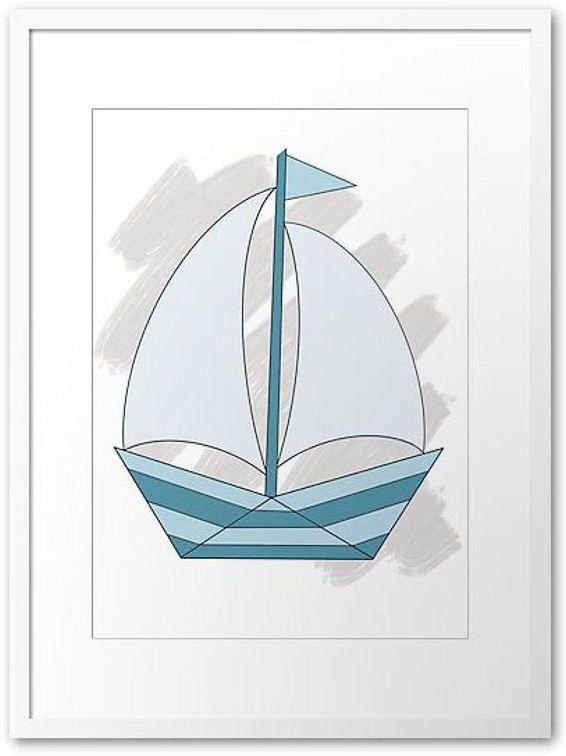 Sailing boat Printout / Wall art nursery by PocketFulOfPrintouts