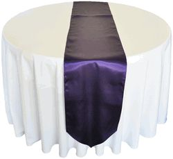 cheap purple table runners