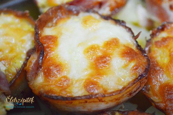 Muffin formában sült sajtos-baconos csirkemell   Életszépítők