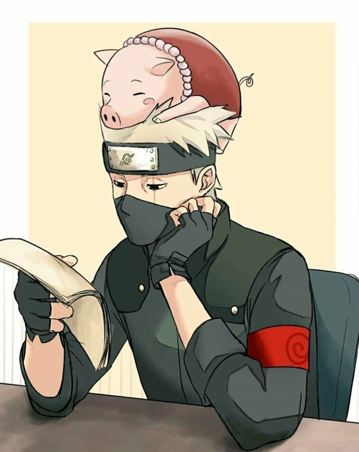 Hatake Kakashi and Tonton