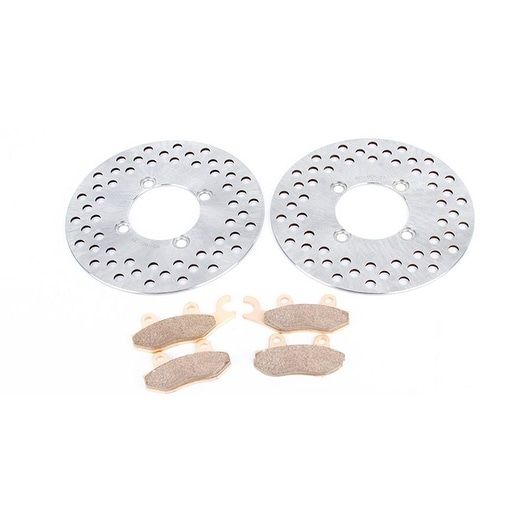 2013 Yamaha Rhino YXR700 FI 4x4 Auto Sport Edition Front Brake Rotors and Pads, Silver stainless steel
