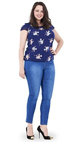 Fashion Bug Women Plus Size: Jeans: Ladies Plus Size Jeggings Stretch Denim Look Womens Leggings Cotton Jeans #British #UK #PlusSize #FashionBug #Jeans #Curves
