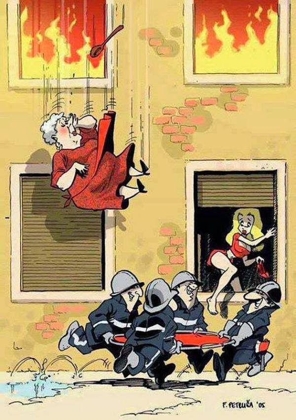 Les femmes et les pompiers ! LOL