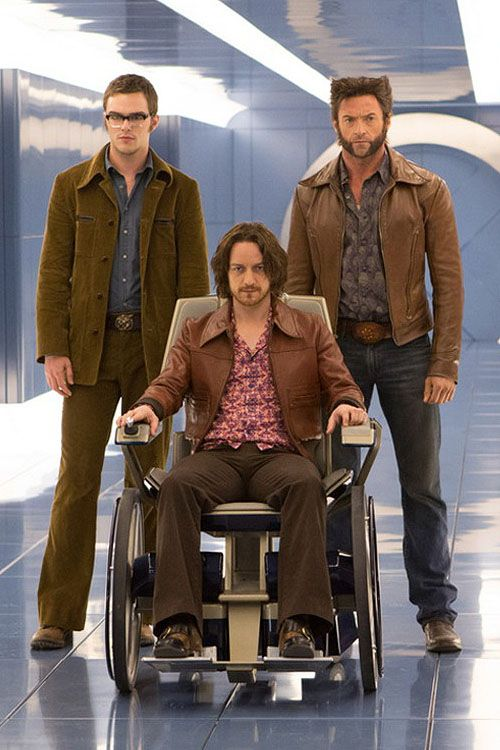 Nicholas Hoult, James McAvoy & Hugh Jackman in X-Men: Days of Future Past! I cannot wait for this movie!!