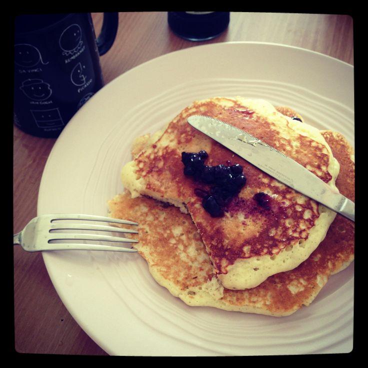 Just regular pancakes