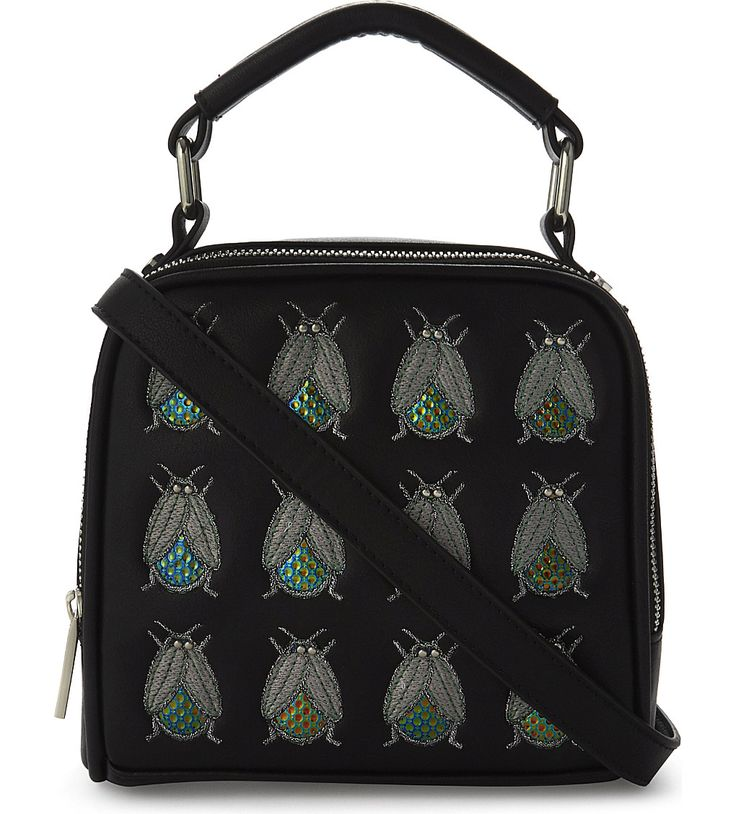 SKINNY DIP Holey bug-embellished cross-body bag