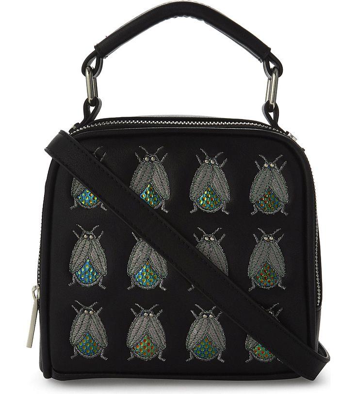 SKINNY DIP Holey bug-embellished cross-body bag