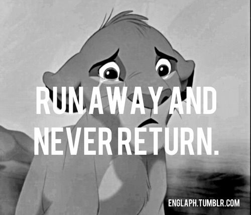 Tear Quotes Wallpaper Simba Runaway And Never Return Lion King Quote The Lion