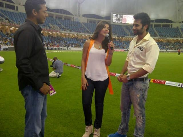Jackky with Mahesh Bhupathi