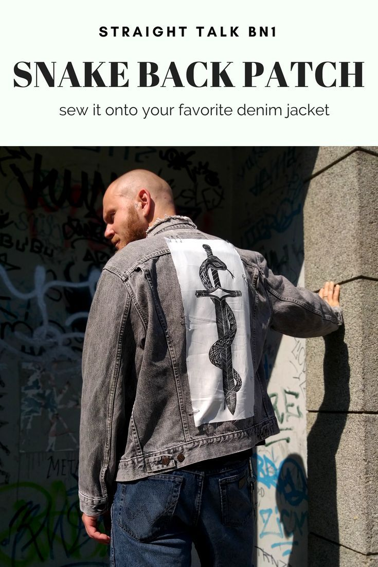 6f0df1a809d6f Make your denim jacket even better with our Snake   Sword back patch.  Perfect for punks everywhere