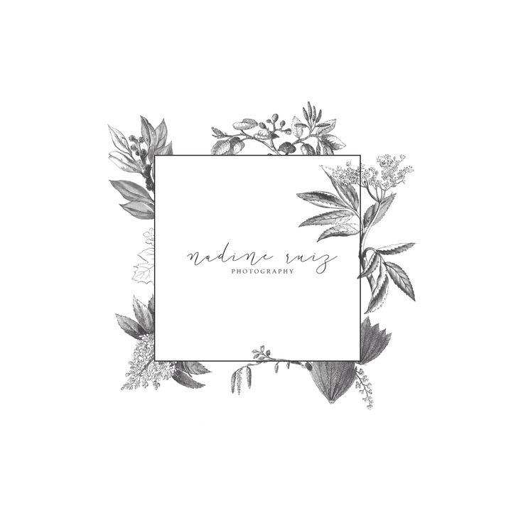 floral, modern, classic, elegant logo design branding by alisabeth designs