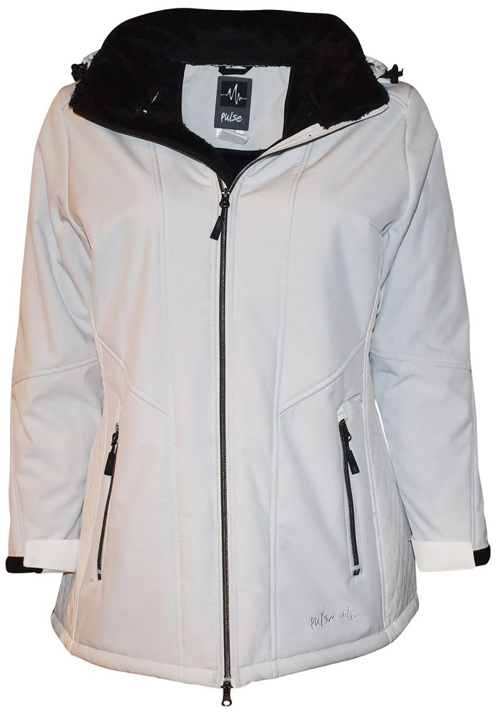 acb6f69a3b5 Pulse Plus size 1X-6X faux fur insulated soft shell jacket. This is a more  fitted type of jacket and you may need to size up one size.