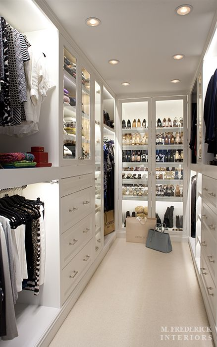 organization and display - shopping experience in your own closet...please