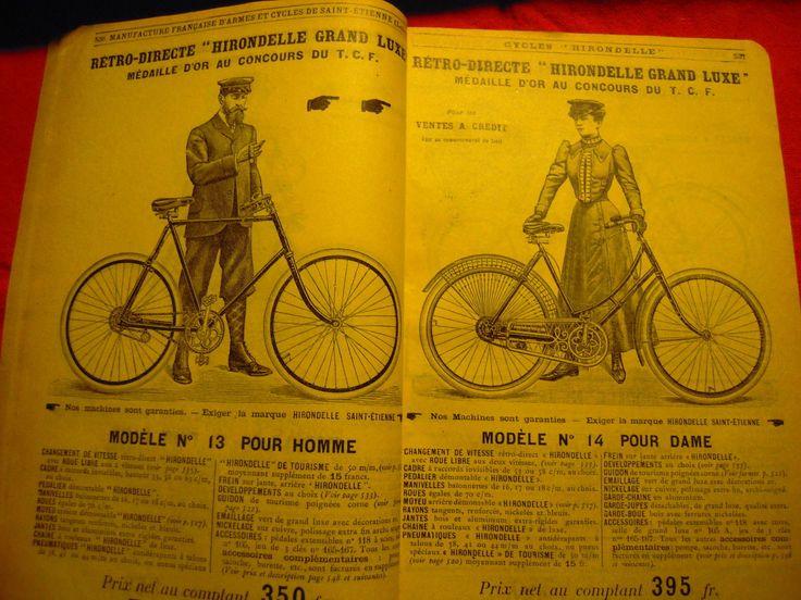 RARE MANUFRANCE de 1907 - Ancien Catalogue CYCLE VELO HIRONDELLE Bicycle FAHRRAD