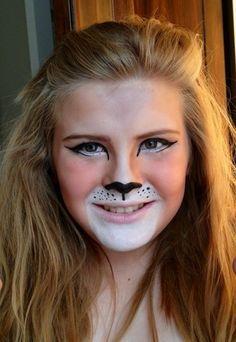 Lion costume makeup