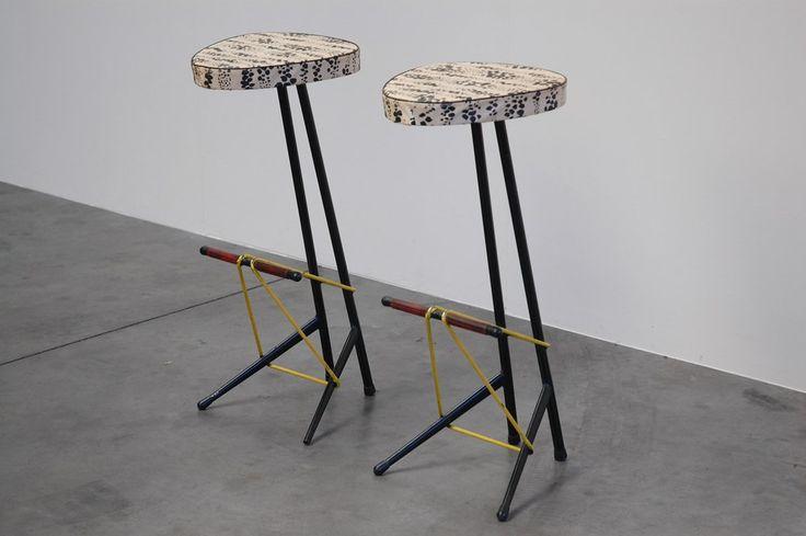 Willy van der Meeren bar stools for Tubax, Belgium 1950
