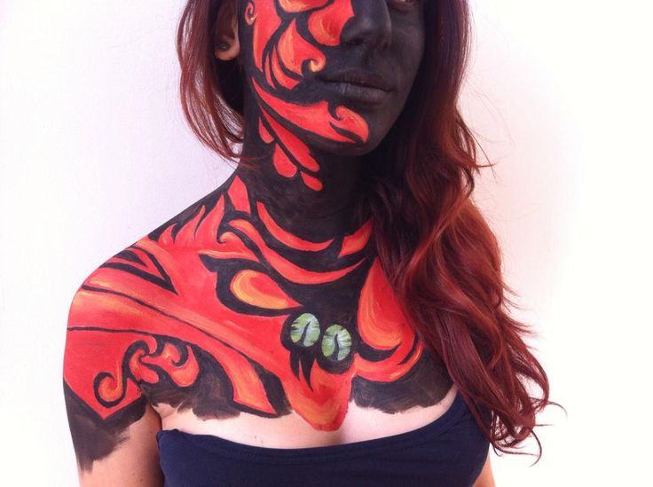abstract dragon bodypaint