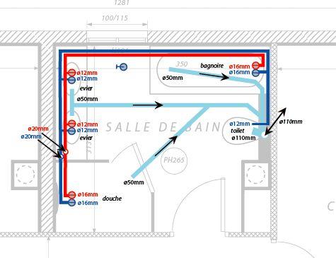 bonjour je vous expose mes plans de plomberie de ma maison en cours de renovation toute la. Black Bedroom Furniture Sets. Home Design Ideas