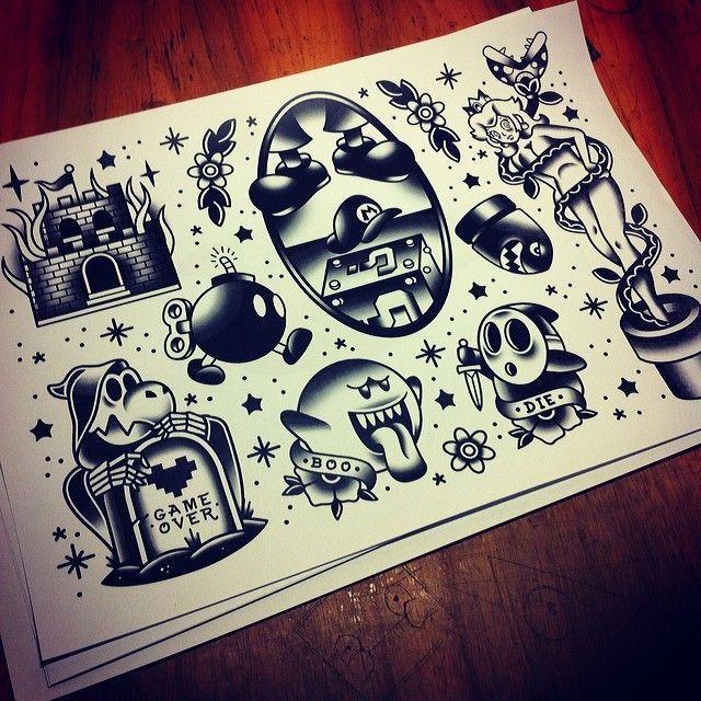... Tattoo on Pinterest | Tattoos Super mario tattoo and Nintendo tattoo