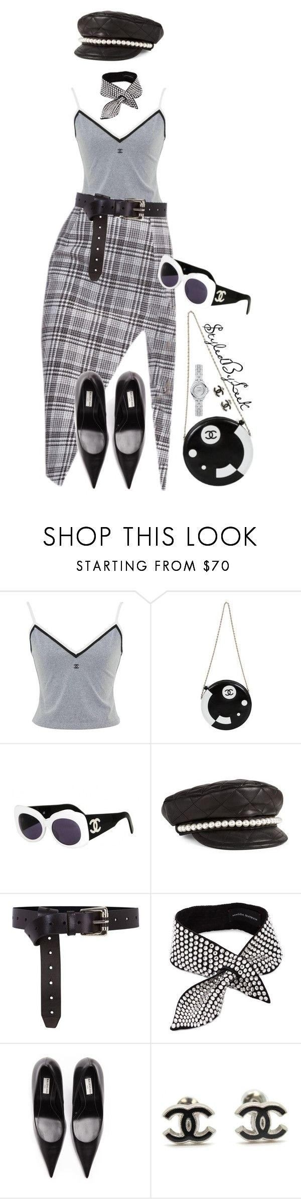 """StyledByLeek"" by stylebywho ❤ liked on Polyvore featuring Chanel, Moschino, Karen Millen, Magda Butrym and Balenciaga"
