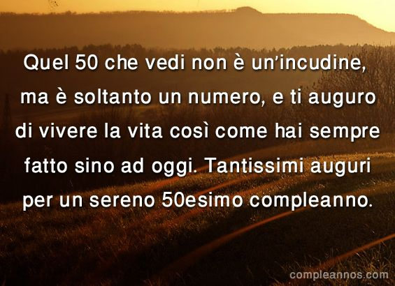 Estremamente 12 best auguri 50 anni images on Pinterest | 50th, Happy b day and  AG45