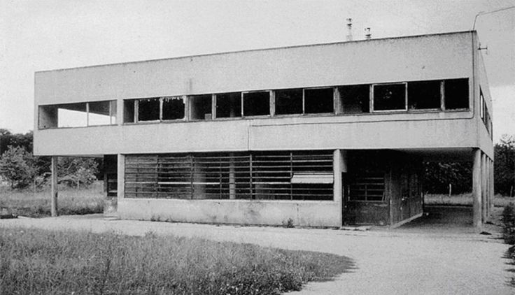 Le Corbusier's Villa Savoye, in Poissy, France, abandoned between the years of 1940 and 1963 (briefly occupied by German soldiers, and by the Savoyes after the war).
