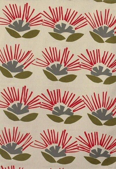 Ingrid Anderson teatowel pohutukawa  The Garden Party