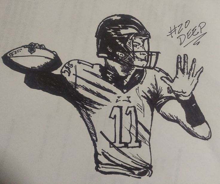 20 Deep. #carsonwentz goes deeeeeeeeeep and complete with Ertz!!!! How about #Eagles QB tonight against the #redskins! He reminded me the Golden era of Big Ben but he moves a lot more from the pocket! I may be a #steelers fan but my oh my! Did he gave a hell of a Game #inktober #inktober2017 #nfl #philly #philadelphia
