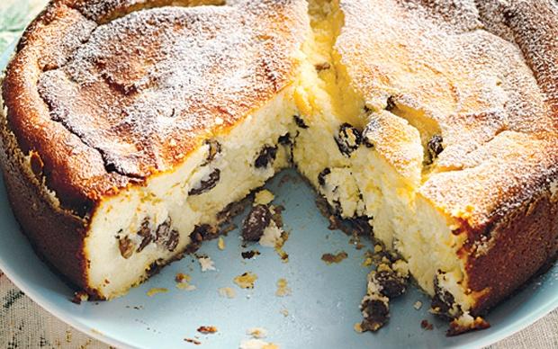 Baked Ricotta And Sultana Cake