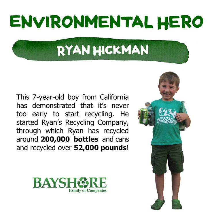 Our Waste-LESS Wednesday Environmental Hero goes to Ryan Hickman. He is a 7-year-old boy from California who has demonstrated that it's never too early to start recycling. When he was three, Ryan Hickman ventured to a local recycling center in Orange County with his father. The experience moved him to such an extent he declared his intentions to start collecting recyclables from his neighbors the following day. Thus started Ryan's Recycling Company, through which Ryan has recycled around…