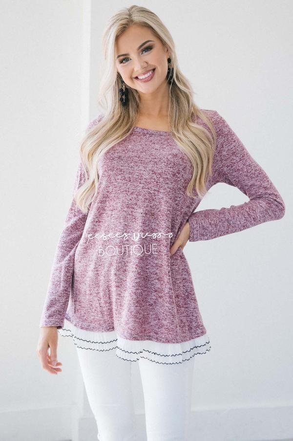 d681f2298b8 The Staci Ruffle Hem Sweater in 2019