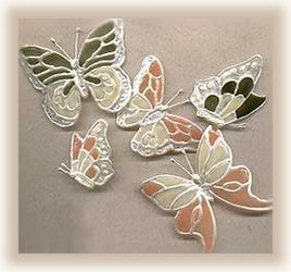 These butterfly clips were made from old pop cans and soda bottles. What a creative and fun way to recycle!