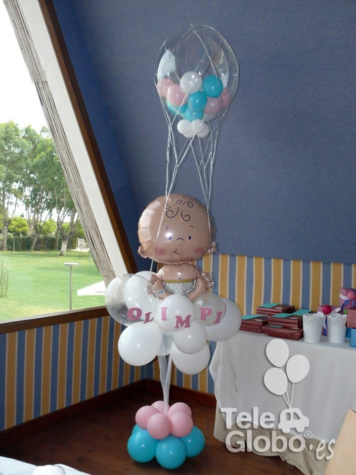 165 best ideas about baby shower balloon board on for Decoracion de globos para bautizo